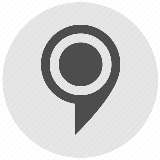 geo, map, poi, point, pointer, round, service icon