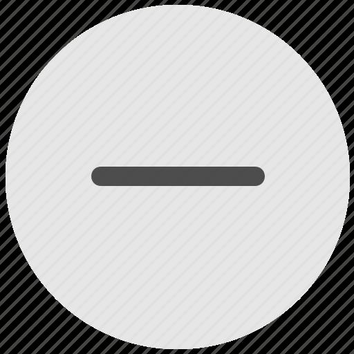ban, geo, minus, round, scale, service icon