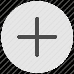 add, create, geo, plus, round, service icon
