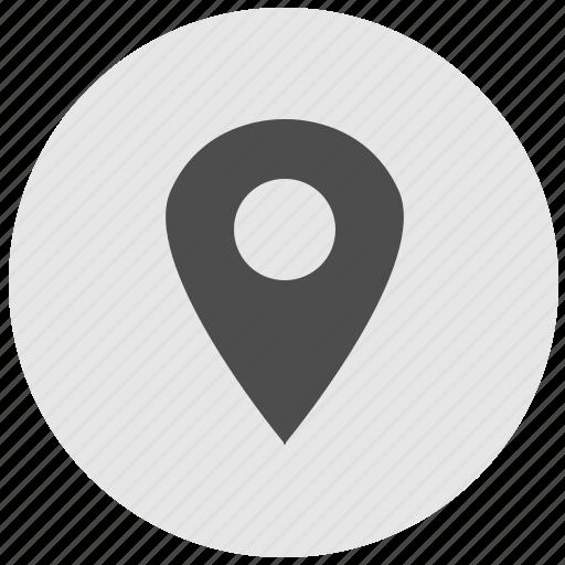 geo, map, poi, point, pointer, round, service icon