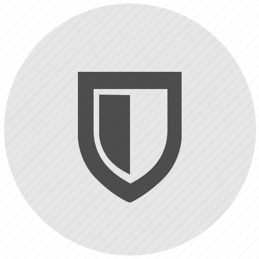 geo, round, safety, security, service, shield icon