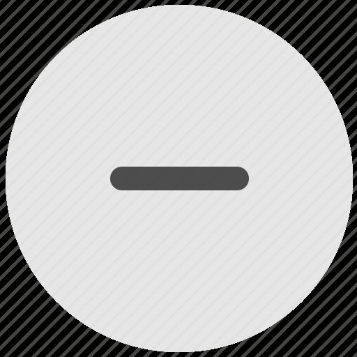 geo, minus, round, scale, service, stop icon