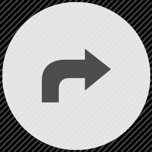 arrow, geo, round, service, turn, way icon