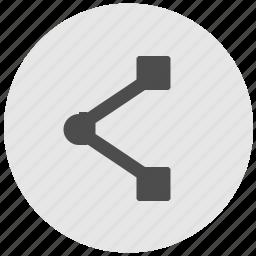 address, geo, link, round, service, url icon