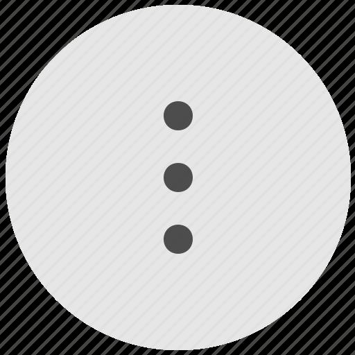 additional, geo, menu, round, service, vertical icon