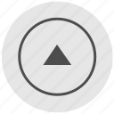 arrow, geo, navigation, round, service, top, up icon