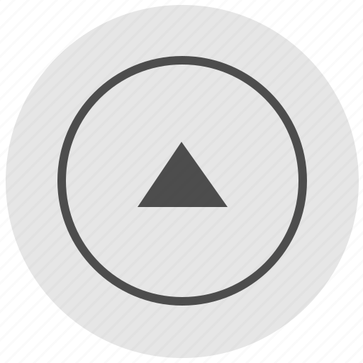 arrow, geo, navigation, round, service, top, up icon
