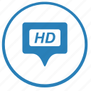 film, hd, picture, quality, stream, video icon