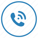 call, dial, function, mobile, phone, round icon
