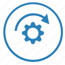 function, gear, move, radial, rotate, settings icon