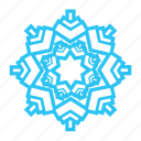 blue, cold, sky, snow, snowflake, winter icon