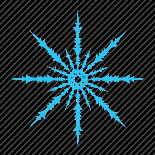 christmas, cold, falling, snow, snowflake, winter icon