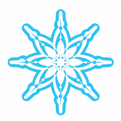 christmas, cold, falling, snow, snowflake, winter icon