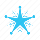 christmas, cold, falling, sky, snow, snowflakes, winter icon
