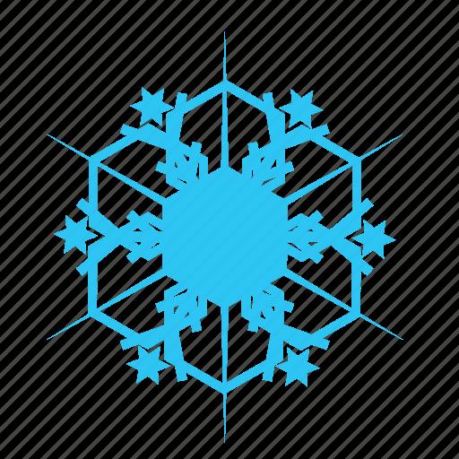 christmas, falling, sky, snow, snowflake, winter icon