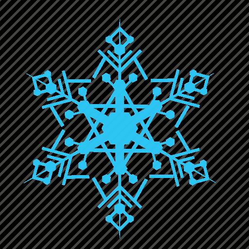 christmas, cold, falling, sky, snow, snowflakes, winter icon
