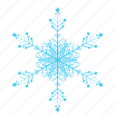 christmas, cold, falling, outside, snow, snowflake, winter icon