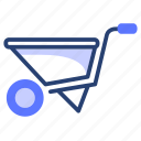barrow, equipment, farm, garden, gardening, wheel, wheelbarrow