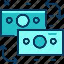blue, exchange, money, transfer, travel