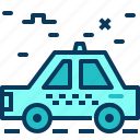 blue, car, road, taxi, transpotation, travel icon