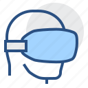 apparatus, headpiece, helm, helmet, imaginary, unreal, vr icon