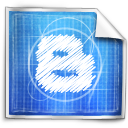 blogger, blue print icon