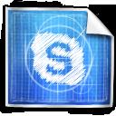 blue print, skype icon