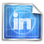 blue print, linkedin icon