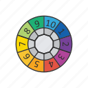 boardgames, games, monopoly, spin the wheel, wheel, wheel of fortune icon