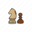 boardgames, chess, chess game, games, knight, monopoly, pawn icon