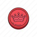 boardgames, crown, draughts, games, monopoly, queen, strategy game icon