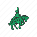 boardgames, cavalry, cavalry man, games, knight, monopoly icon
