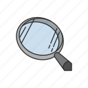 boardgames, clue, games, investigate, magnify, magnifying glass icon