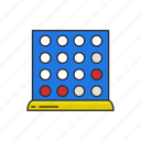 boardgames, connect four, connection game, four up, games, monopoly icon