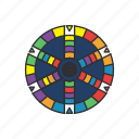 boardgames, games, monopoly, monopoly game, trivial game, trivial pursuit icon
