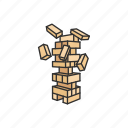blocks, boardgames, games, jenga, monopoly, monopoly game, stockpile icon