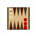 backgammon, boardgames, games, monopoly, strategy game icon