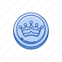 boardgames, checkers, crown, draughts, games, monopoly, queen icon
