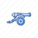 artillery, boardgames, cannon, games, monopoly, strategy game, weapon icon