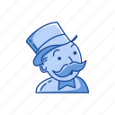 boardgames, game piece, games, monopoly, rich uncle pennybags, strategy game icon