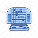 battleship, boardgames, games, guessing game, monopoly, strategy game icon