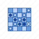 boardgames, checkered board game, game piece, games, monopoly, othello, reversi icon