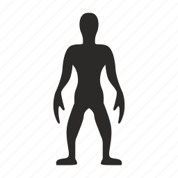 alien, body, figure, hero icon