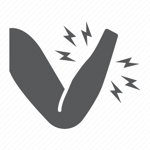 accident, ache, arm, body, hand, injury, pain icon