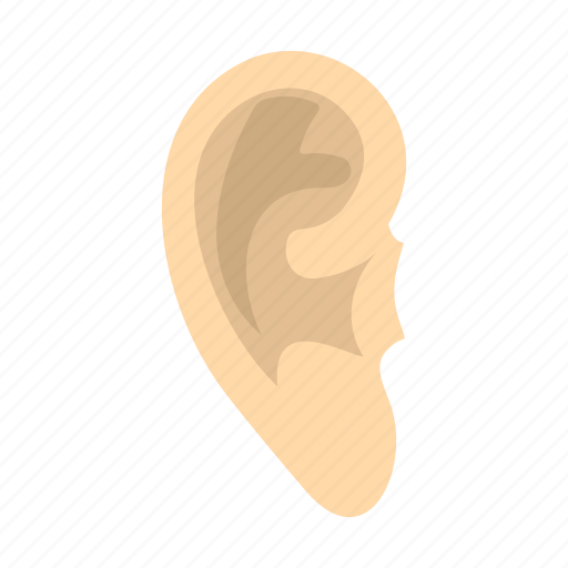 deaf, ear, human, part, sense, shape, sound icon