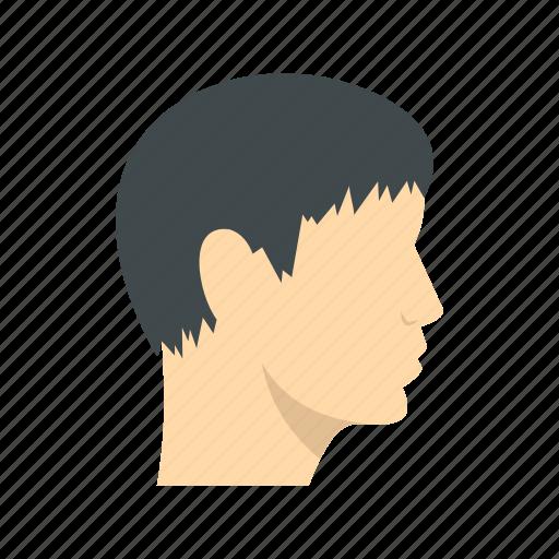 brunet, head, male, man, person, portrait, young icon