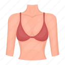 body, bust, female, organ, part, person icon