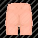 body, buttock, organ, part, pelvis, person icon