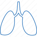 body, bodypart, lungs icon