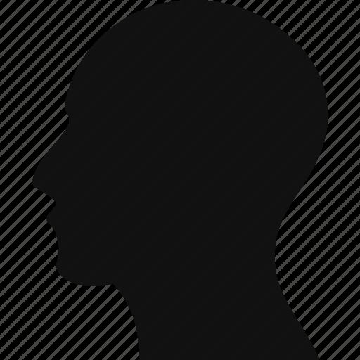 body, bodypart, face, head, human, man, manhead icon